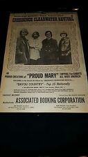 Creedence Clearwater Revival Associated Booking Corporation Rare 1969 Poster