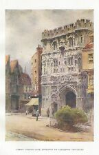 HASLEHUST VINTAGE PRINT : CHRIST CHURCH GATE ENTRANCE TO CATHEDRAL PRECINTS