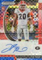 2020 Prizm Draft Picks J.R. Reed RC Auto Red White and Blue 70/99 Rams Georgia