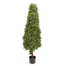 Artificial 5ft / 150cm Boxwood Tower Tree Outdoor Use Large Artificial Plant
