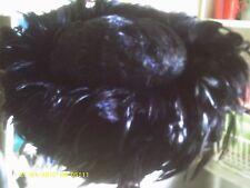 KOKIN BLACK COQUE feather WOOL HOT HOLLYWOOD DANCER BURLESQUE VEGAS SHOWGIRL