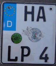 GERMANY  motorcycle license plate    HA  LP 4