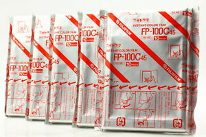 【New Expired 2005/07】 5 Packs FujiFilm FP-100C Instant Color Film from Japan