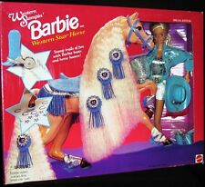 Western Stampin' Barbie with Western Star Horse (Special Edition)(New)