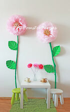 2 Huge Flowers. Luxury wall decor. Baby shower. Alice in Wonderland girls party