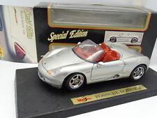 Maisto 1/18 - Porsche Boxster 986 Silver