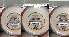 Bare Escentuals bareMinerals ILLUMINATING MINERAL VEIL Face Powder SEALED 9g X 3