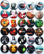 PLACEBO Button Badges Pins Bruise Pristine Without You I'm Nothing Lot of 30