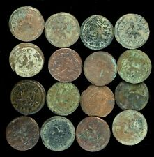 Coins Austrias Period, Medieval Times (Bronze, Uncleaned) - 16 pieces Lot