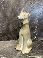 Limoges France Porcelain Figural Greyhound Dog Trinket Box Artist Signed