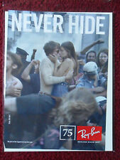2012 Print Ad RAY BAN Sunglasses ~ Never Hide Riot Kiss