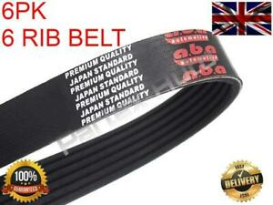 6PK1173 Alternator Drive V-Ribbed Belt For Toyota Yaris 1.3 2002-2005 (Petrol)