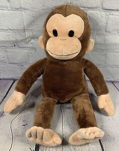 "Russ Applause Curious George 16"" Soft Plush Monkey Stuffed Animal Toy Brown EUC"