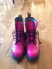DR DOC MARTENS Pink Patent Leather 1460W Air Wair Boots  ~ UK 6 EU 39 US 8