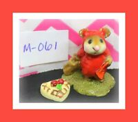 ❤️Wee Forest Folk Little Devil Red Mouse Halloween 1981 Retired Figure M-061❤️