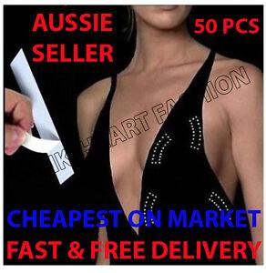 50 Pk Invisible Hollywood Secret Fashion Quality Tape Dress Bare Lift Wig Toupee