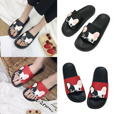 Women Summer Beach Cute Dog Puppy Flat Sliders Sandals Shoes Flip Flops Slippers