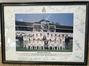 1993 Aussie Ashes Team Photo Original Framed Warne Waugh Border