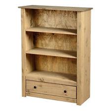 Panama 1 Drawer Bookcase Natural Wax