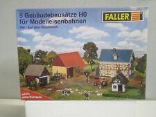 Faller H0 Set-Auf dem Bauernhof, 5 Gebäudebausätze m.OVP WZ1081