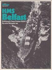 Warship Profile 29 RN CL HMS Belfast 1939-71 (Profile 1972) J Wingate