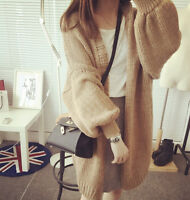 Fashion Korean Womens Winter Fall Warm Long Sleeves V-neck Cardigan sweater