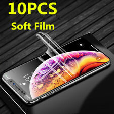 For iPhone 11 Pro Max XR XS Max 7+ 8+ 6S 5S Clear PET Soft Film Screen Protector