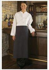 """Bistro Apron, 1 Pocket, Color: Black & White Pinstripe, Size: 28""""W x 33""""L - 3052"""