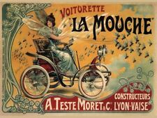 Vintage French Motor Car Advertisement Retro Metal Sign Garage Wall Decor A4