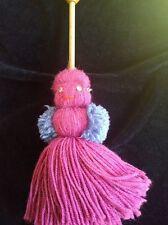 MAMMY doll MAMMIE duster cleaning lady doll wool pom pom kitsch craft