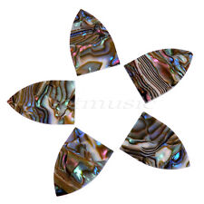 5 Pcs Triangle Truss Rod Cover Abalone Pearl for Electric Guitar Celluloid