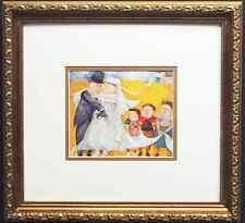 "Graciela Rodo Boulanger ""Les Jeunes Maries"" LITHOGRAPH Custom FRAMED art NEW"