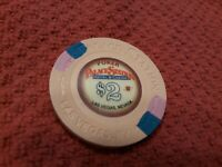 $2 PALACE STATION POKER Drop CHIP Las Vegas Nevada Hotel Casino FREE SHIPPING **