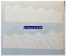 STICKERS ONGLES WATER DECAL (x10) - Nail art - Motif dentelle - Blanc
