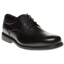 edc59922462ee Mens Rockport Black Charlesroad Plaintoe Leather Shoes Lace up UK 8