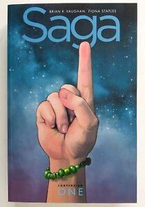 Saga Volume 1 *DAMAGED* Compendium Brian Vaughn Image Graphic Novel Comic Book