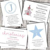 Christening Invitations Personalised ~ Naming Day & Baptism ~ Boy & Girl