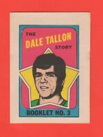 1971-72 O-Pee-Chee OPC  # 3  Dale Tallon  Booklet  Exmt