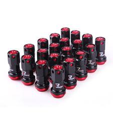 16+4 Pcs Red Composite R40 Iconix Lock Anti Theft Wheel Lug Nuts M12x1.25