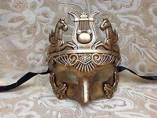 Gold Hercules Warrior Roman Greek Venetian Masquerade Prom Men's Mask