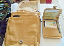 LEATHER TRAVEL-ON CROSS BODY SHOULDER BAG,ADJUSTABLE,STRAPS,WITH SMALLER BAG