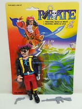 Pirate Action figure Kids Goods CAPTAIN Complete with cardback 1980s 1986