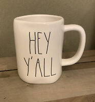 Rae Dunn - HEY Y'ALL - LL White Ceramic Coffee Mug