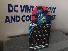 Vintage 1994 The Shadow Complete Set of 23 Rings Board! Universal Studios