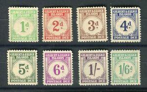 Gilbert & Ellice Islands KGVI 1940 Postage due set of 8 SG.D1/8 MNH