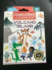 Create A Story - Volcano Island By Eeboo 40 Illustrated Cards New!!!