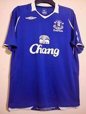 EVERTON FOOTBALL CLUB 2008 BLUE HOME SHIRT UMBRO CHANG SIZE L LARGE VGC BLUES