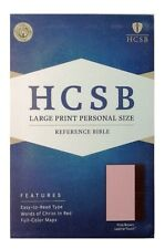 HCSB Reference Bible, Large Print Personal Size, Leather Touch, Pink/Brown