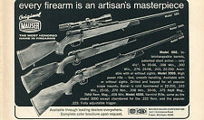 1972 Print Ad of Original Mauser Bauer Model 660 3000 & 4000 Varmint Rifle