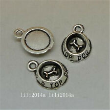 30pc Tibetan Silver Charm dog bowl Pendant Bracelet Jewellery wholesale  H905J